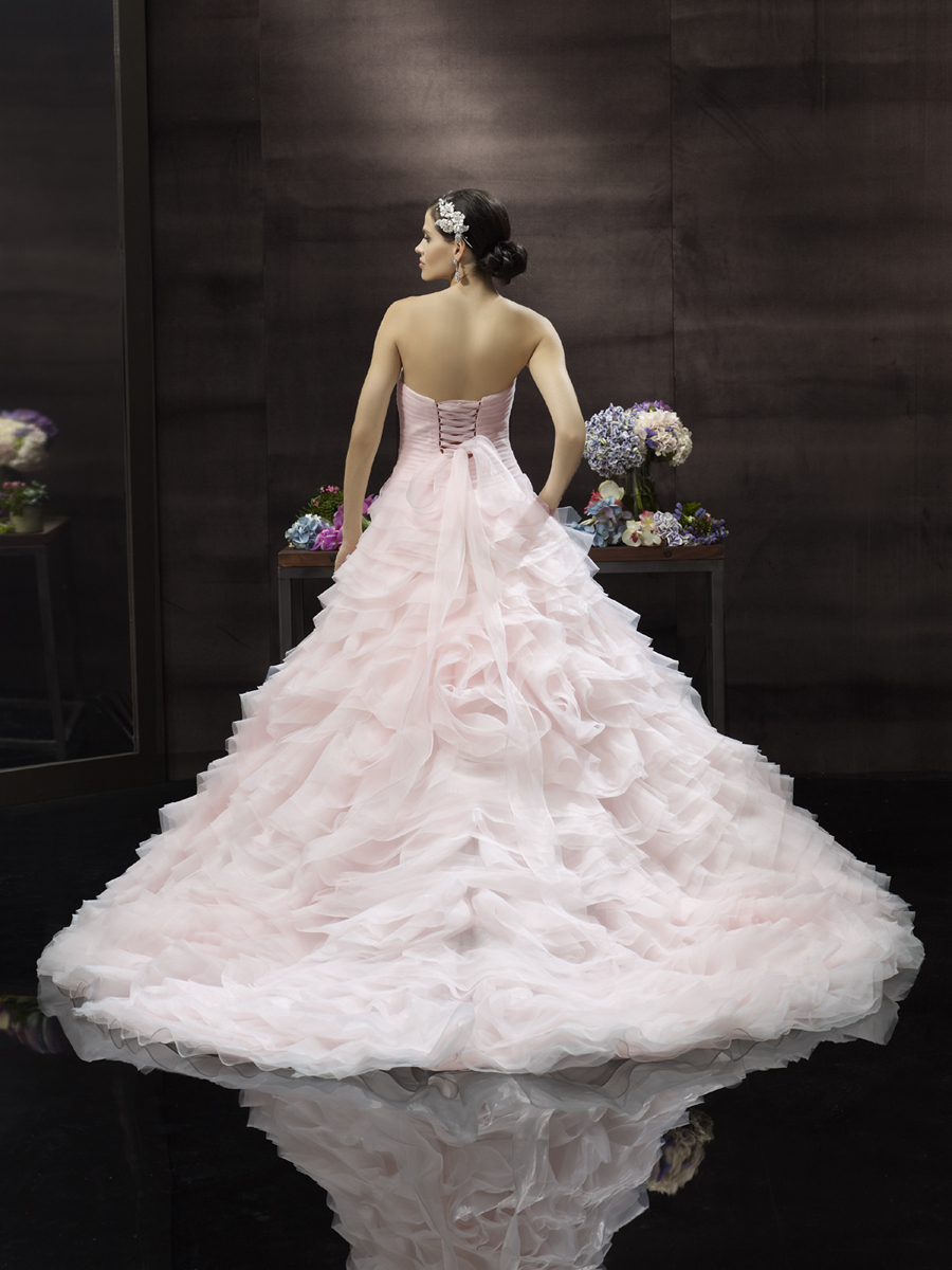 Pink Wedding Dresses Princess : Blush pink princess wedding gown from moonlight couture onewed