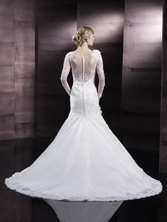photo of Mermaid lace wedding gown from Moonlight Couture