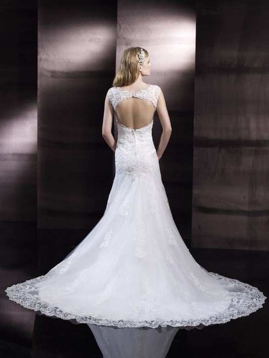 Open back wedding gown from Moonlight Couture