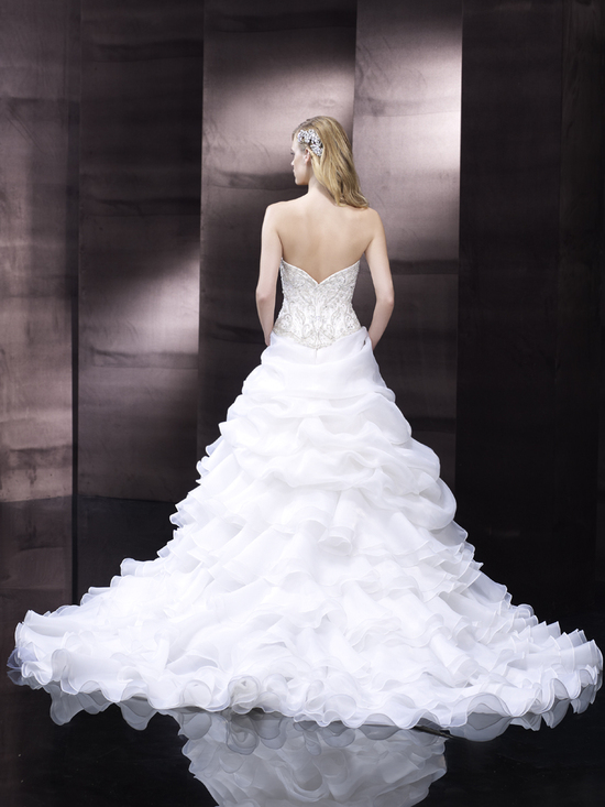 Ruffled wedding gown from Moonlight Couture