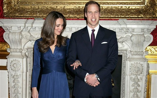 Prince William and Kate Middleton's upcoming royal wedding