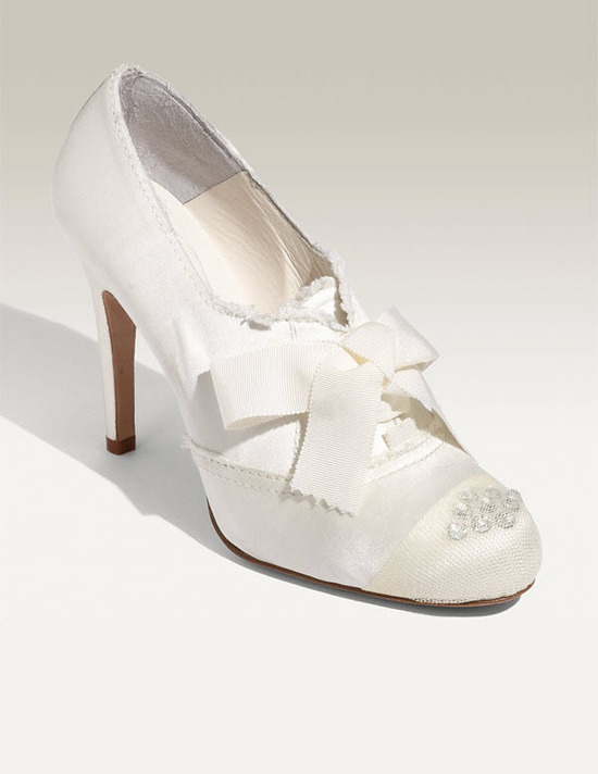 photo of Closed-toe Emelyn bridal pumps by Pedro Garcia, $460, Nordstrom's wedding shoes