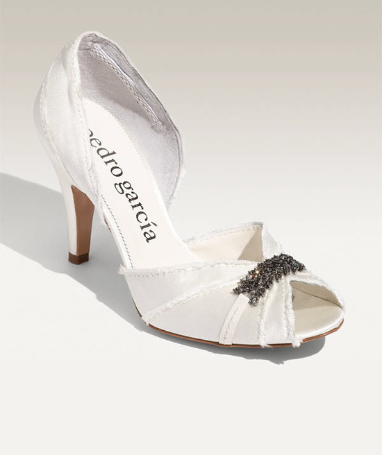 photo of Peep-toe D'Orsay bridal pumps by Pedro Garcia, $460, Nordstrom's wedding shoes