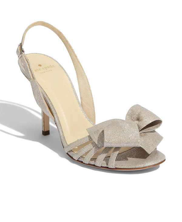 Kate spade bridal heels the lourdes shoe with metallic shimmer and kate spade bridal heels the lourdes shoe with metallic shimmer and bow detail junglespirit Images