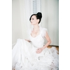 Chic-bridal-hairstyle-all-up-bun-wedding-dress-bolero.square