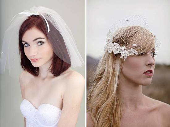 photo of  Vintage inspired bouffant veil and birdcage veil by Lovely Bridal