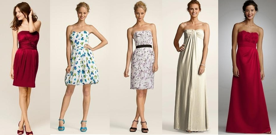 Chic party dresses by David's Bridal, perfect for wedding guests and bridesmaids!