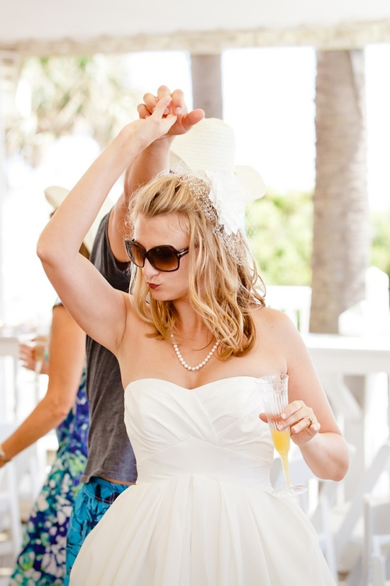 Real bride dances at reception
