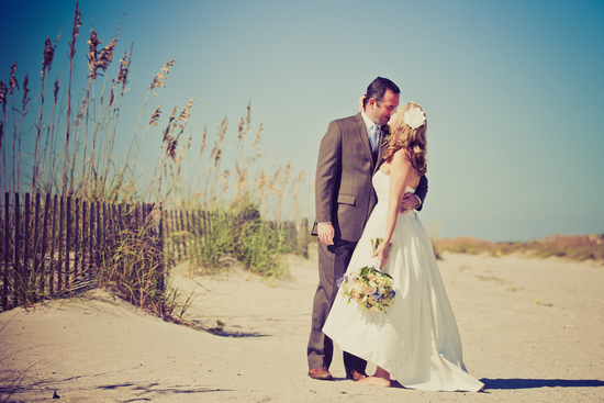 photo of DIY Real Wedding, Southern Beach Style!