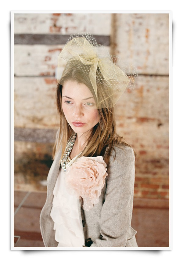 photo of Bridal Head Chic: Southern Charm Meets Vintage Romance