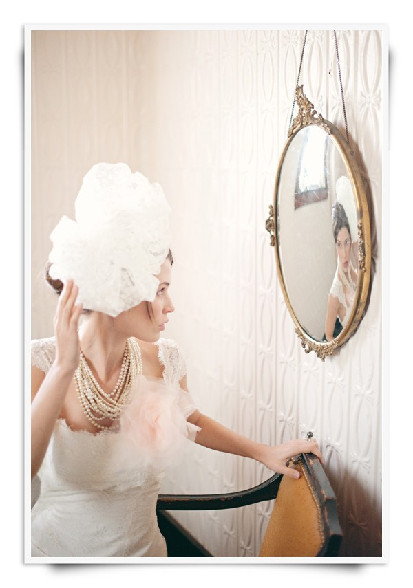 Vintage chic bridal hair pouf for your wedding day