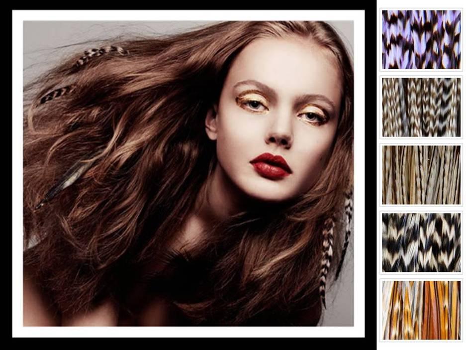 Wedding day hair idea feather hair extensions pmusecretfo Choice Image