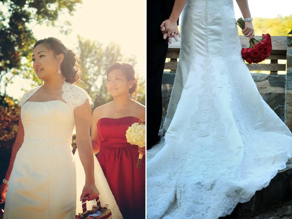Romantic-lace-wedding-dress-davids-bridal-red-bridesmaids-dresses.full