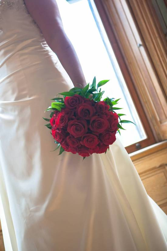 Red Rose Wedding Flowers 1