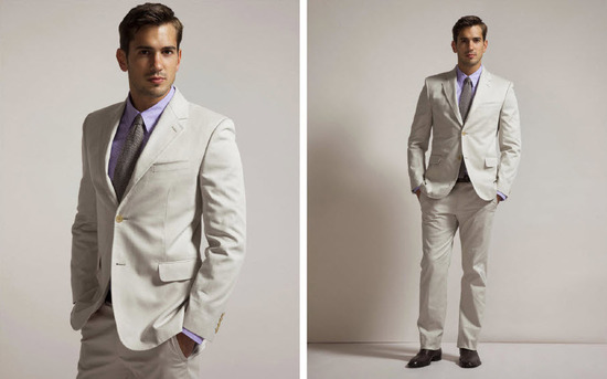 Beach wedding formalwear for your groom- khaki linen suit