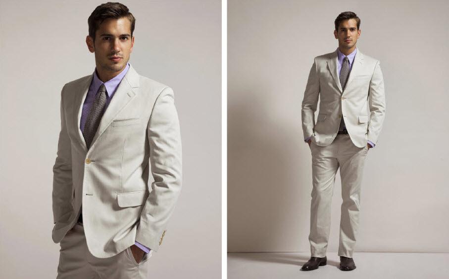 Beach Wedding Groom Suit