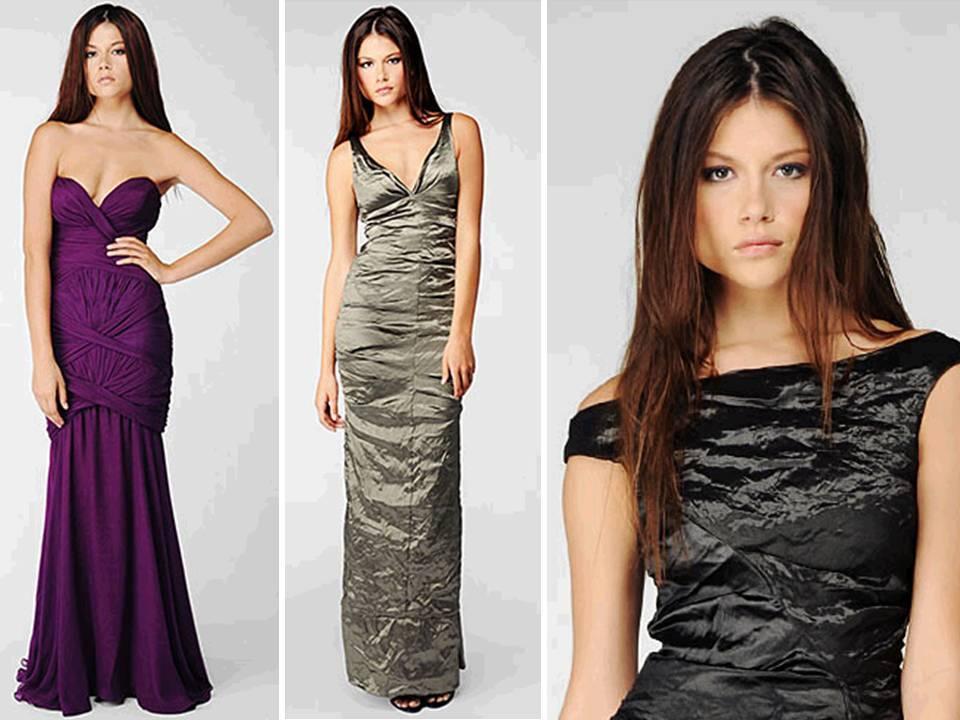 silver and black metallic bridesmaids dresses