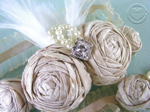 photo of Win a one-of-a-kind silk rosette bridal garter set from The Chica Boutique