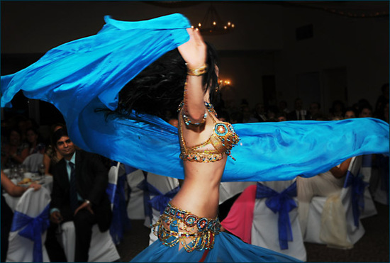 Incorporate Middle Eastern mystery into your wedding reception with a belly dancer