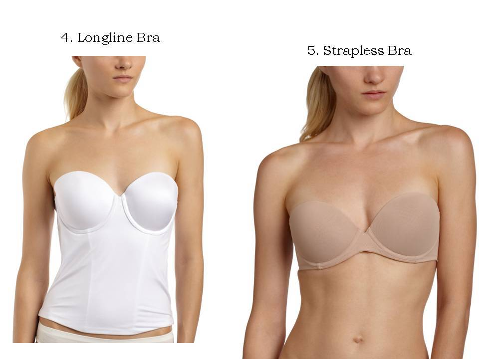Longline bras slim the bride\'s tummy, strapless bras are great for ...