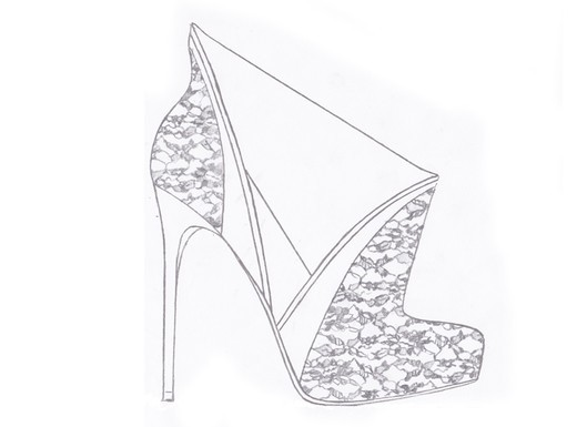 Lace bridal booties for Kate Middleton, inspired by Westminster Abbey