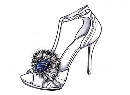 Peep-toe strappy sandal bridal heels with floral embellishment