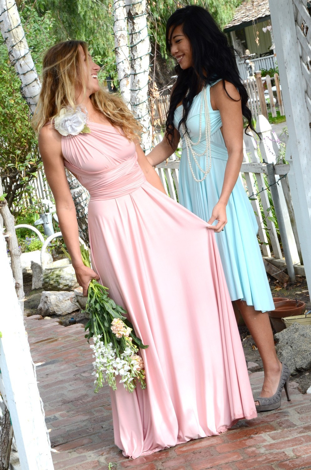 Light pink monique lhuillier bridesmaid dress ombrellifo Image collections