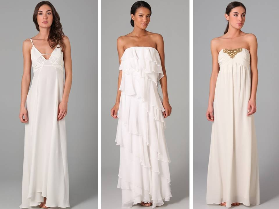 Casual flowy wedding dresses perfect for a beach wedding for Wedding dresses casual beach