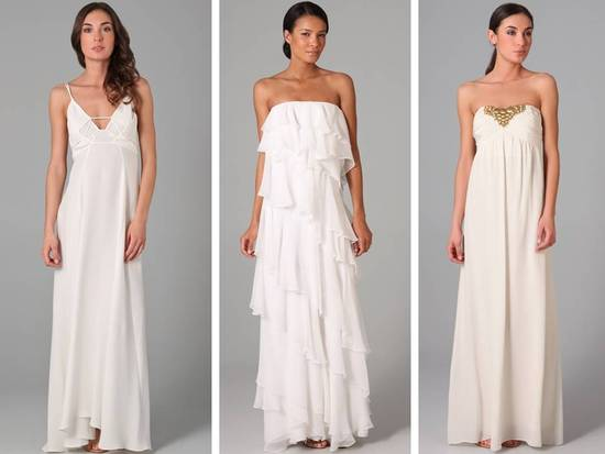 Casual flowy wedding dresses perfect for a beach wedding
