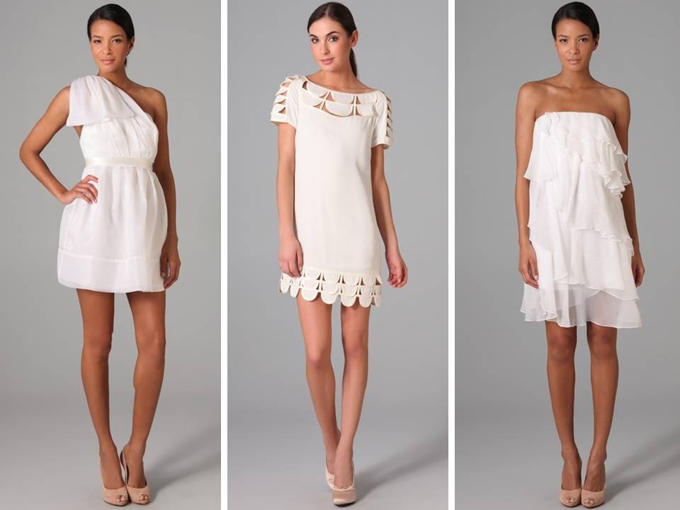 Chic little white dresses from a casual wedding or 2nd Dresses for wedding reception