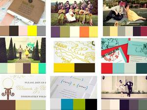 photo of Find Your Wedding Color Palette and Wedding Patterns