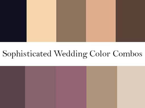 Rich wedding color palettes- blushes, nudes, warm browns, plums