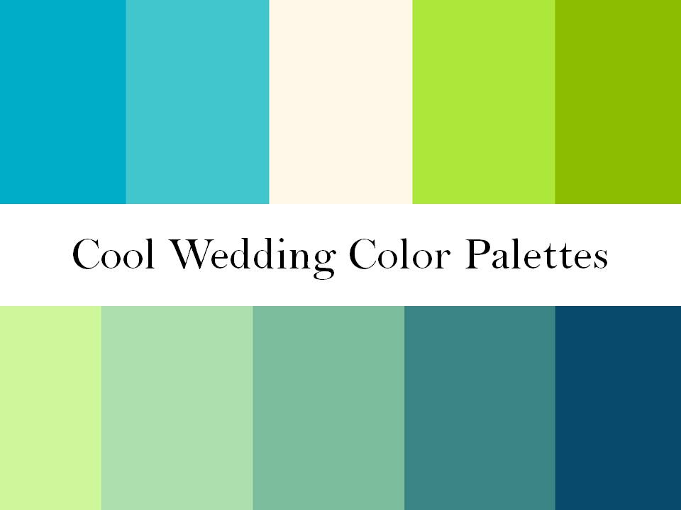 Blue Color Palette Cool Wedding Colors Green Blue