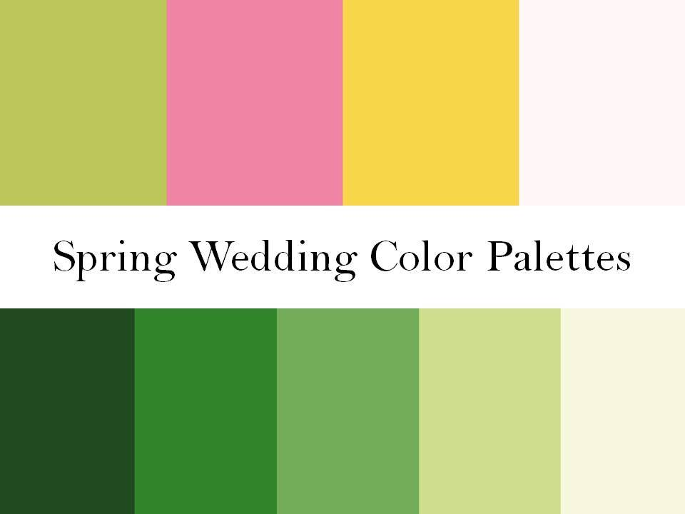 2 wedding color palettes perfect for a spring wedding