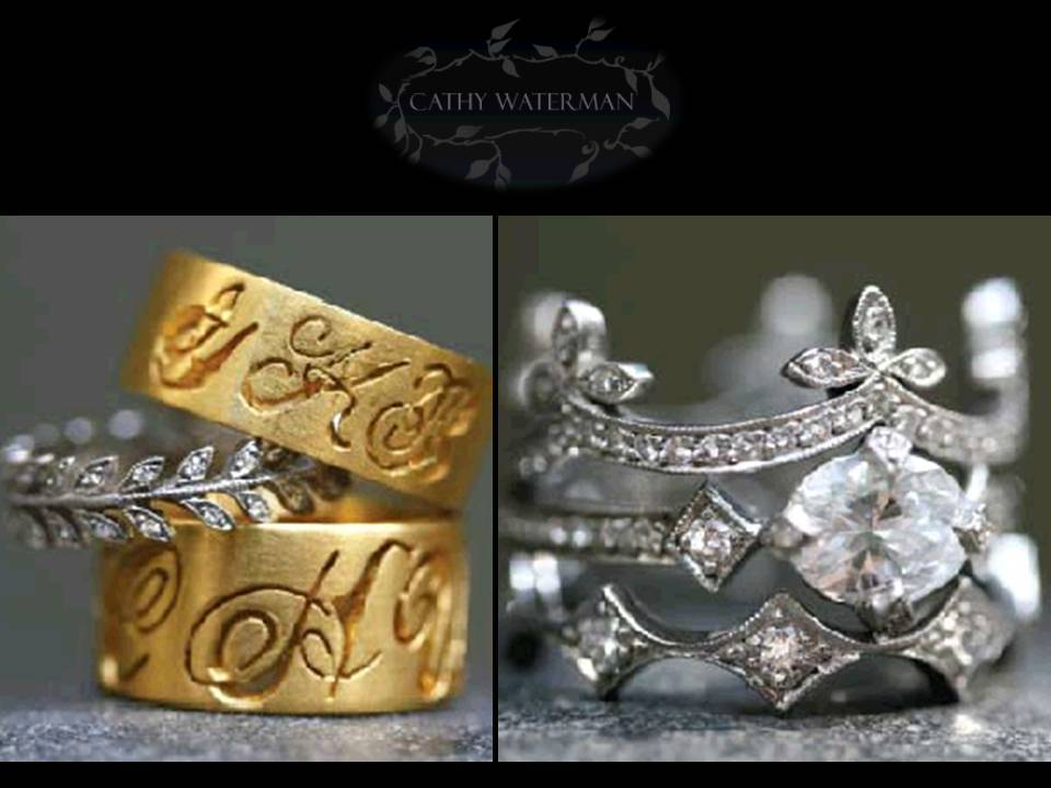 engagement rings and wedding bands by Cathy Waterman