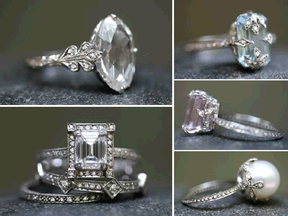 Diamond engagement ring and non diamond engagement rings onewed com