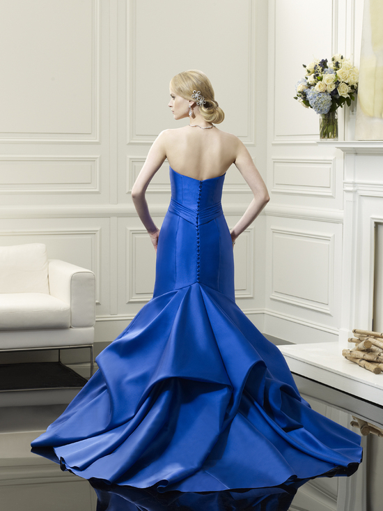 Blue mermaid wedding gown from Val Stefani