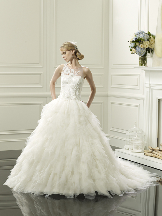 photo of Feathered ball gown from Val Stefani