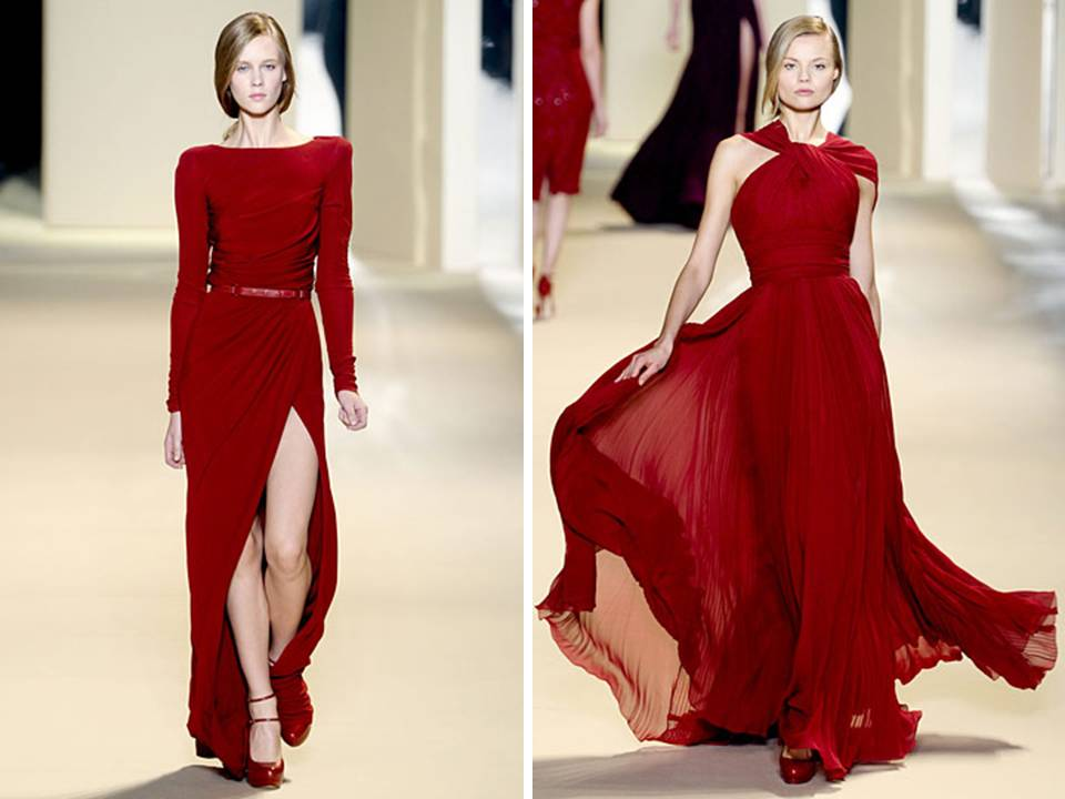Wedding Fashion Inspiration From The Red Carpet The: Stunning Red Elie Saab Red Carpet Gowns With Waist