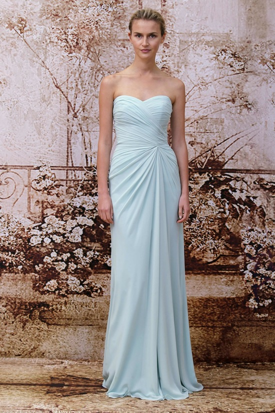 Bridesmaids dress from Monique Lhuillier 2014