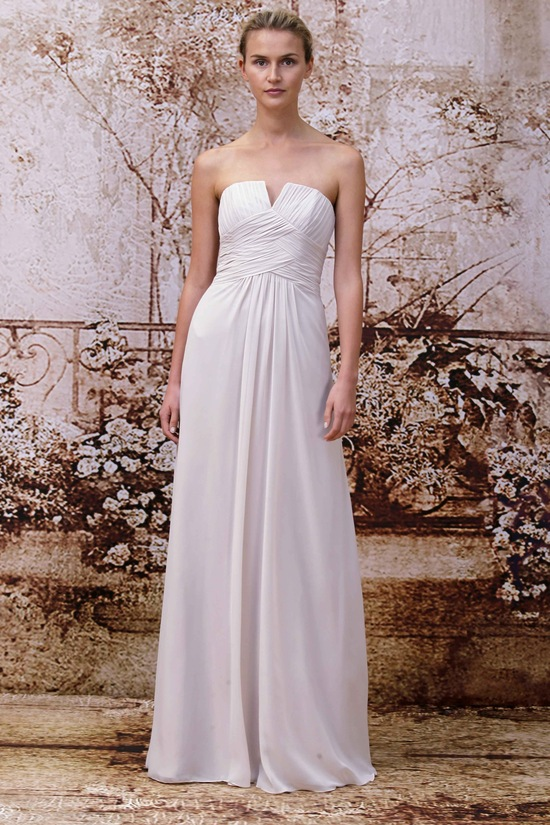 bridesmaids dress from Monique Lhuillier
