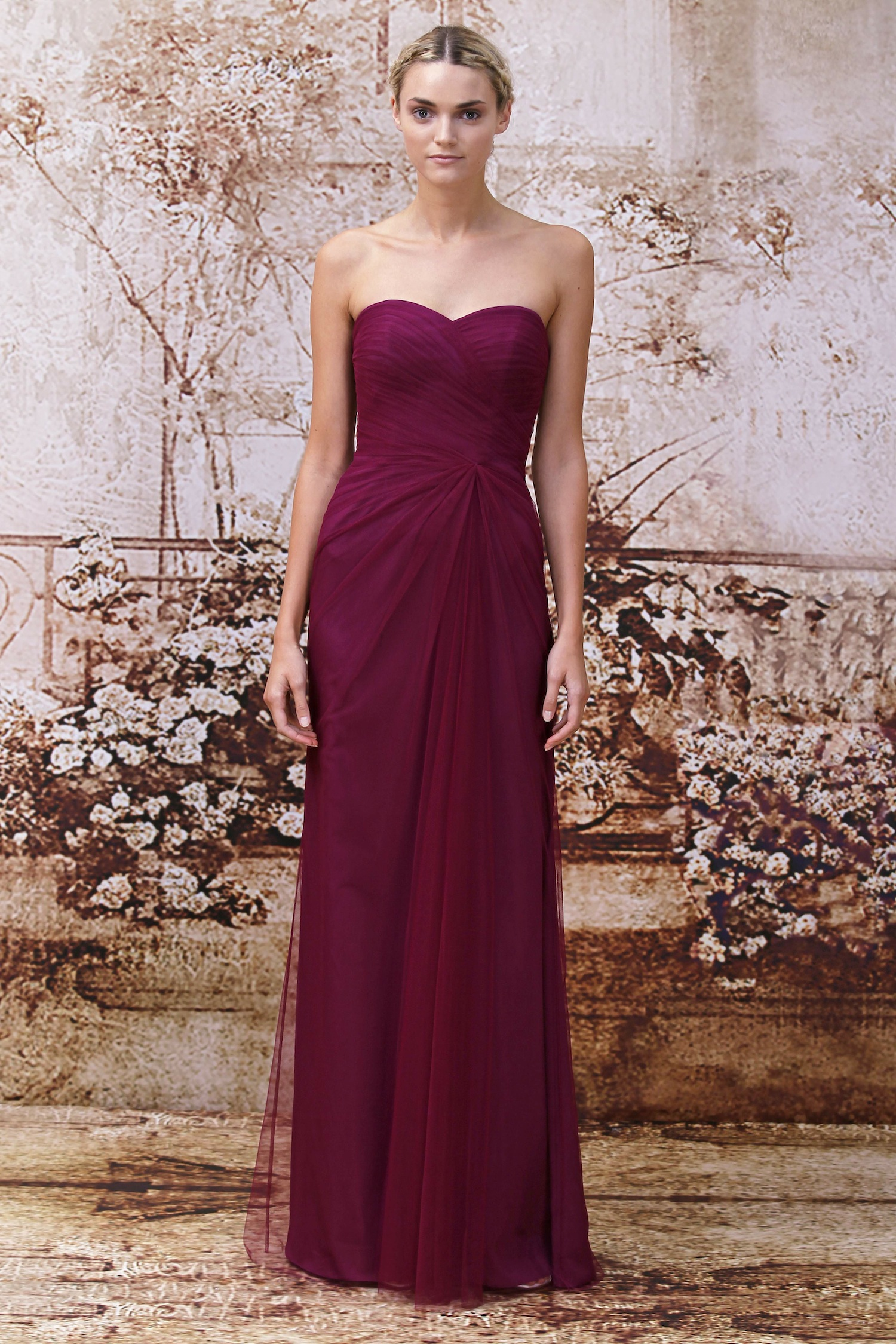 Monique lhuillier bridesmaids dress for Monique lhuillier pink wedding dress