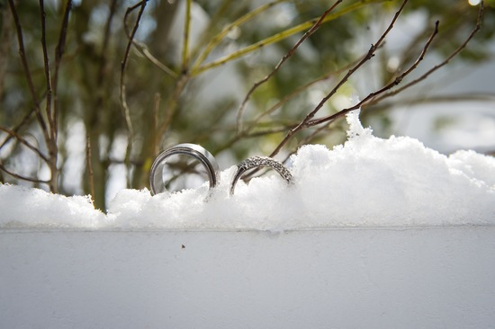 Rings in a winter wonderland