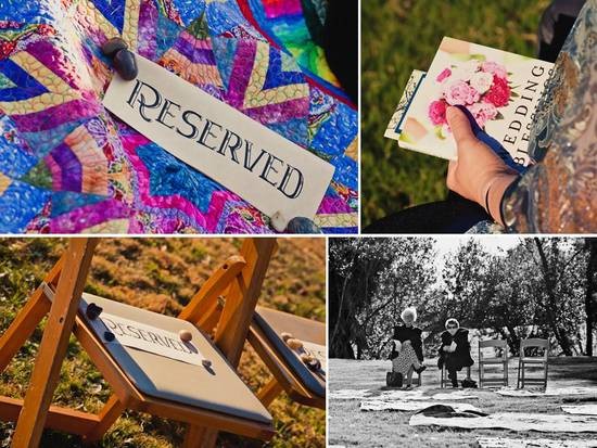 photo of Outdoor California Wedding: Bohemian Influences, Bob Dylan Cool