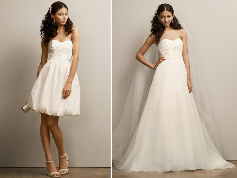 sweetheart neckline 2 in 1 wedding dress from david s bridal