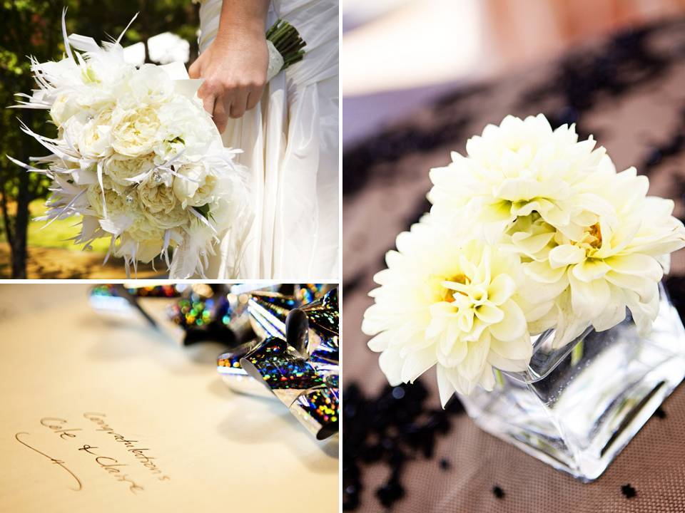 Bride-holds-ivory-bridal-bouquet-feather-accents-wedding-reception-table-centerpieces.full