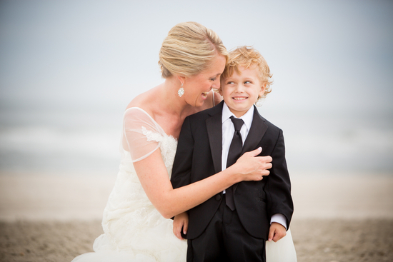 Adorable photo of bride and ring bearer