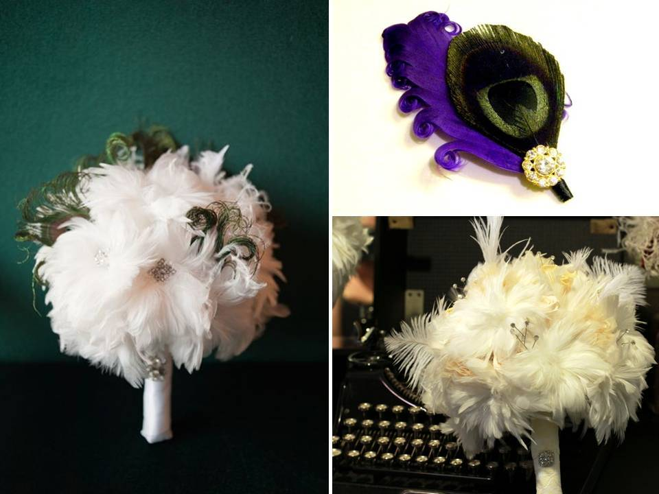 Romantic-feather-wedding-flowers-bouquets.full