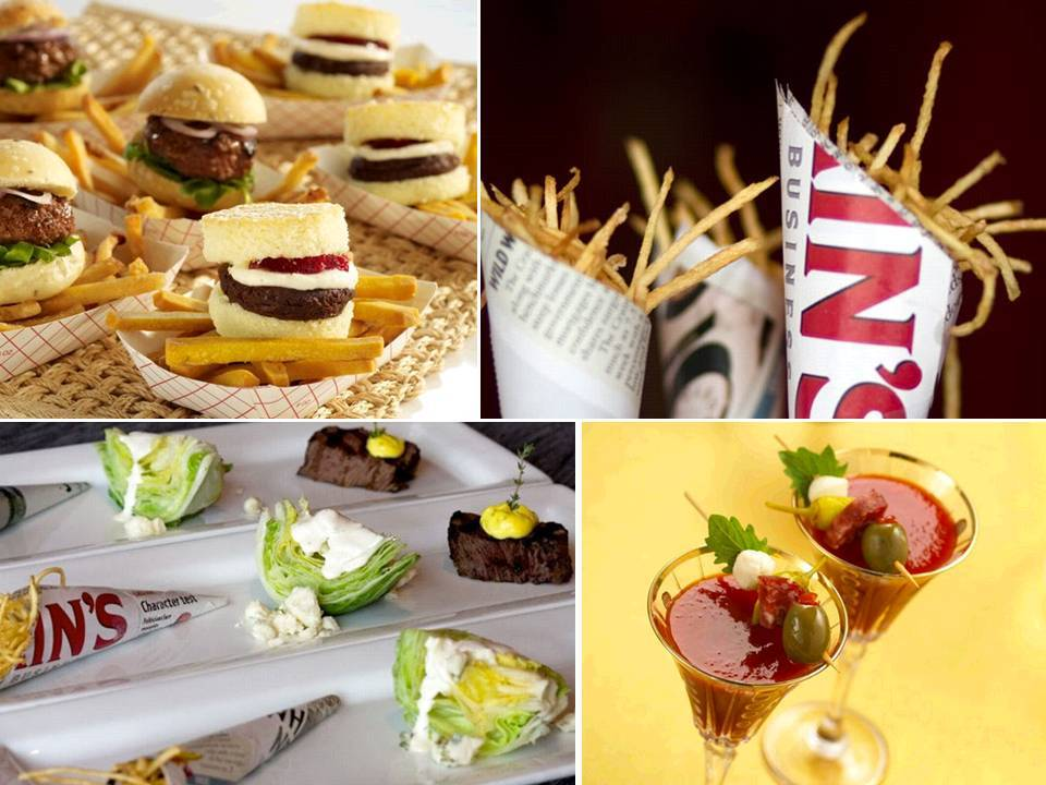 Show your love for your city with wedding reception food inspired by your cities fare