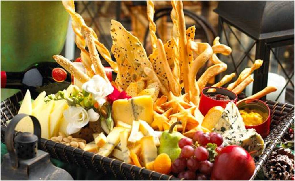 tasting menu for wedding reception with an international twist